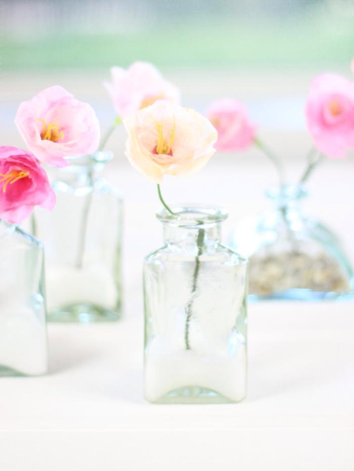 fleur-papier-crepon-facile-créer-une-fleur-vous-mêmes-fleur-en-papier-crepon-roses