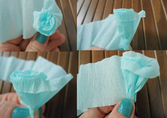 Comment faire une rose en papier facile maison design - Fleur en crepon facile ...