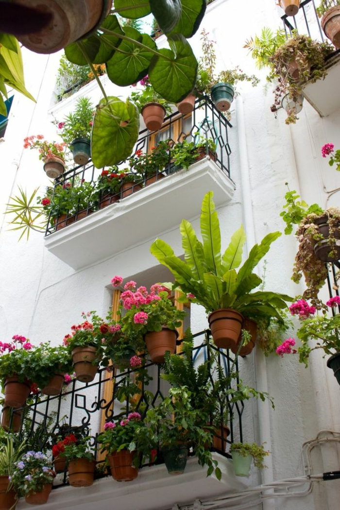 Comment avoir un balcon fleuri id es en 50 photos for Idee plante terrasse