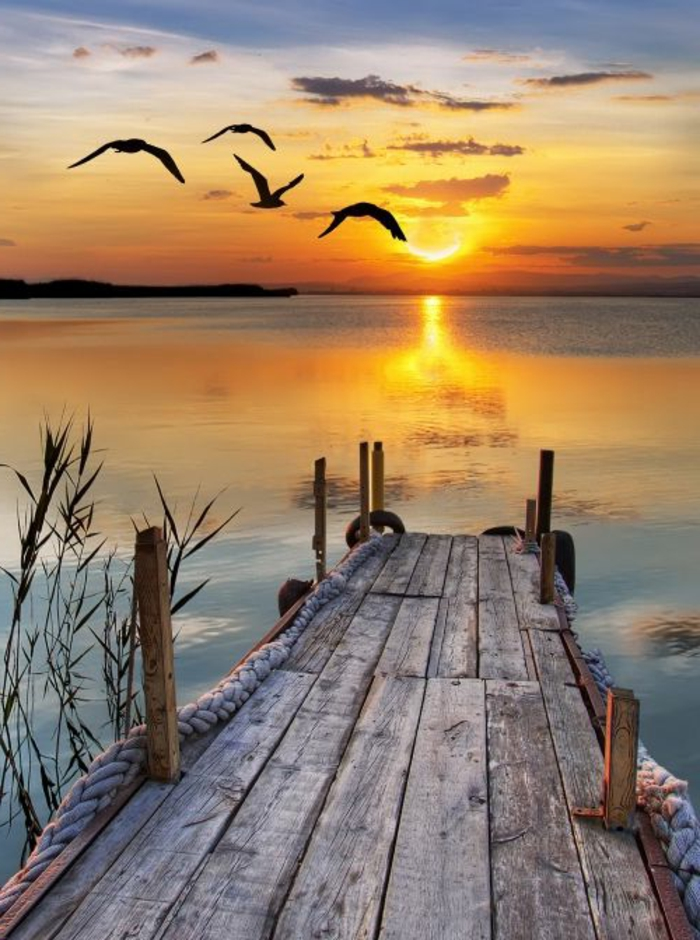 fond-d-ecrans-hd-avec-une-jolie-photo-de-la-mer-et-coucher-de-soleil-orange