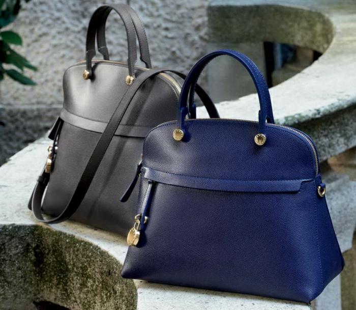 furla-soldes-furla-candy-bag-furla-sacs-à-main-cuir-bleue-et-noire