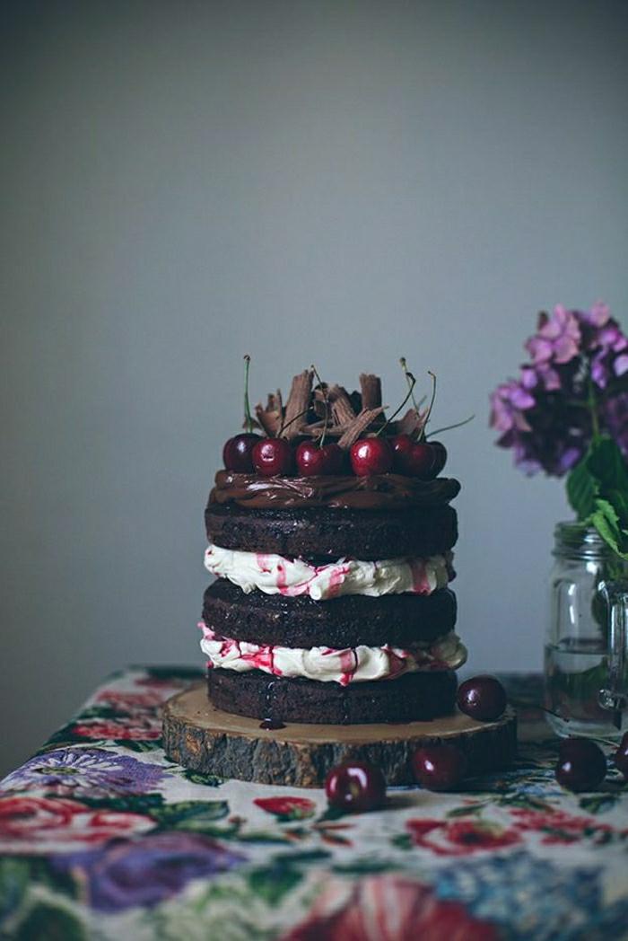gateau-anniversaire-fille-2-ans-gateau-anniversaire-fille-6-ans-déco-festive-chic-fruit-et-chocolat