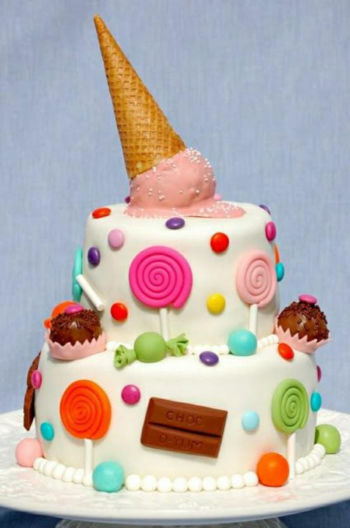 gateau-anniversaire-fille-déco-anniversaire-enfants-gateau-anniversaire-1-an-2-3-4-5-ans