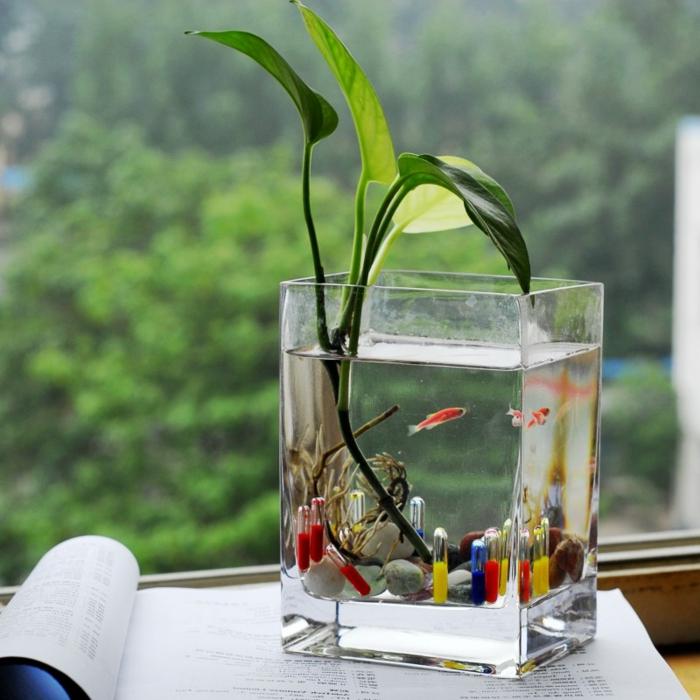 L vase en verre un joli d tail de la d co - Plante dans une chambre ...
