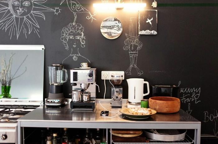 grande-ardoise-murale-peinture-tableau-noir-mur-ardoise-idée-déco-la-cuisine