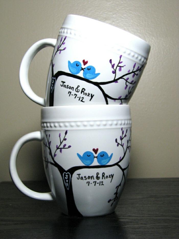 Le mug personnalis en 80 id es cr atives - Personnaliser une tasse ...