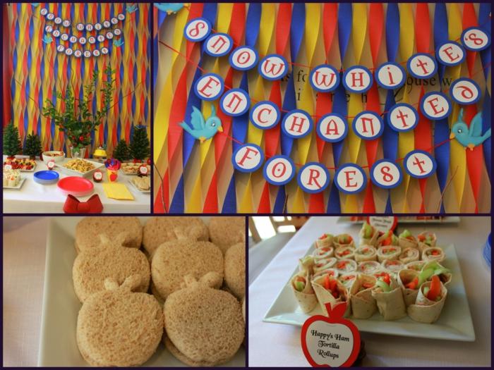 idée-déco-anniversaire-enfant-thèmatique-blanche-neige-snacks