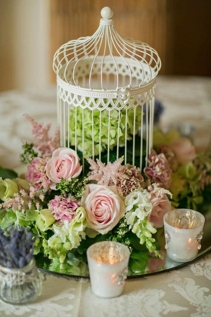 idée-déco-de-table-mariage-idées-déco-mariage-à-faire-soi-meme-jolie-idée-fleurs-bougies