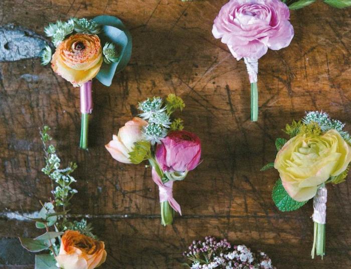 idée-déco-mariage-pas-cher-idées-déco-mariage-pas-cher-petit-bouquets-rondes