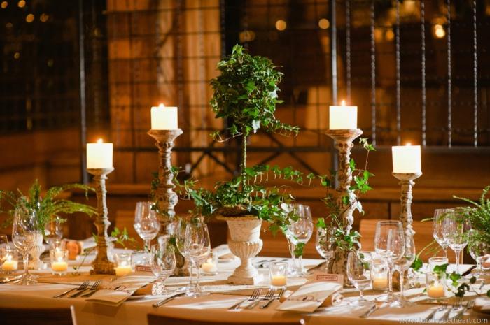 idée-déco-table-mariage-deco-mariage-deco-salle-mariage-bougies-plante-verte