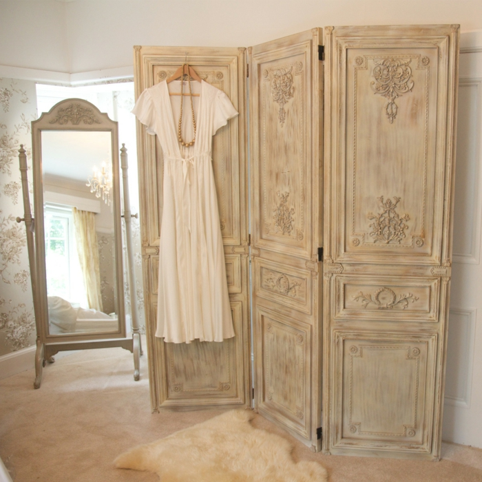 idée-originale-séparation-pièce-meuble-séparateur-de-pièce-ikea-cool-chambre-feminine