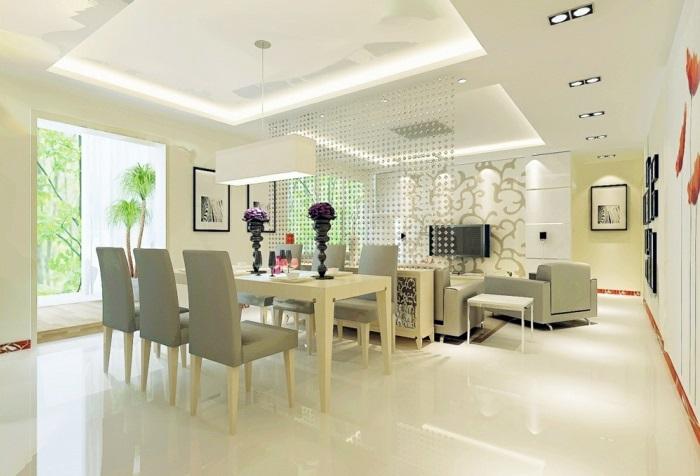 idée-originale-séparation-pièce-meuble-séparateur-de-pièce-ikea-table-chaises-salle-à-manger