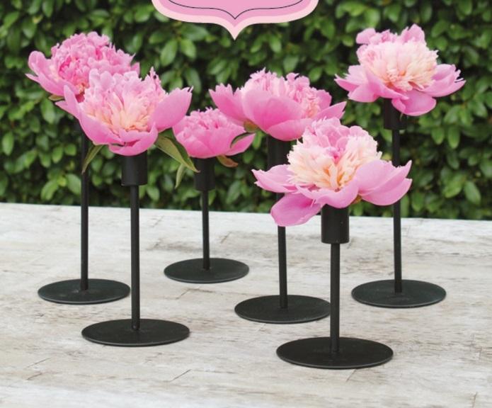 idées-déco-mariage-à-faire-soi-même-deco-de-table-mariage-fleurs-dans-place-bougies