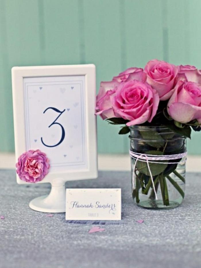 idées-déco-mariage-à-faire-soi-même-deco-de-table-mariage-le-numero-de-table-originale
