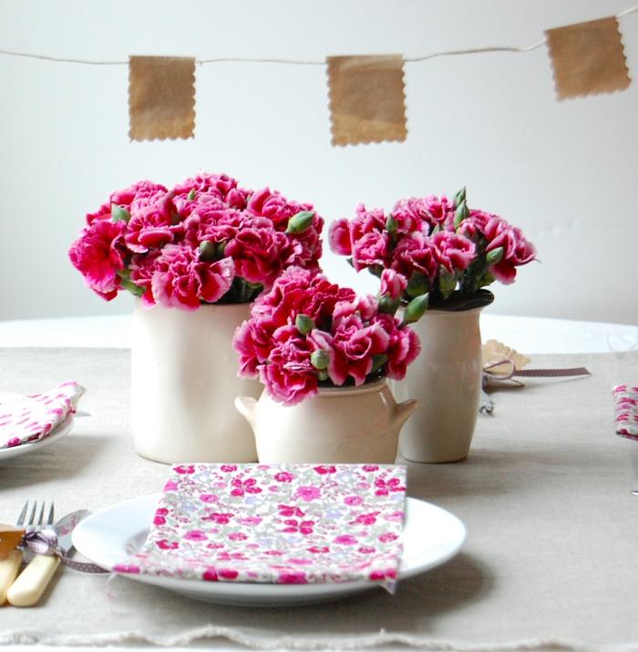 idées-déco-mariage-à-faire-soi-même-deco-de-table-mariage-originale-rose