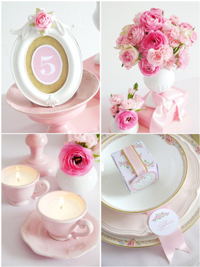 idées-déco-mariage-à-faire-soi-même-deco-de-table-mariageroses-bougies-belle