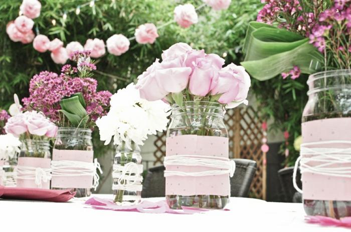 idées-déco-mariage-champêtre-deco-table-mariage-fleurs-vase-originale-personnalisé