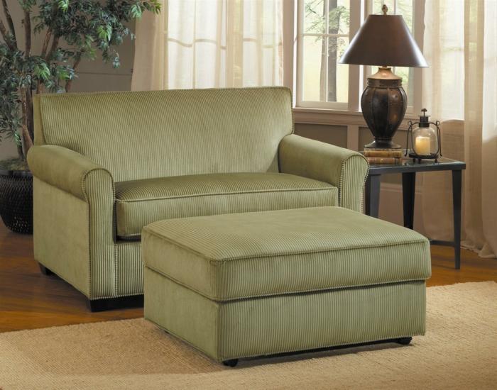 idées-pour-votre-intérieur-avec-le-fauteuil-canapé-convertible-idée-verte