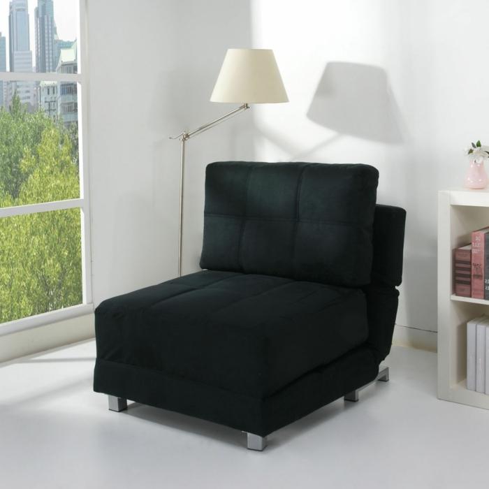 idées-pour-votre-intérieur-avec-le-fauteuil-canapé-convertible-noire