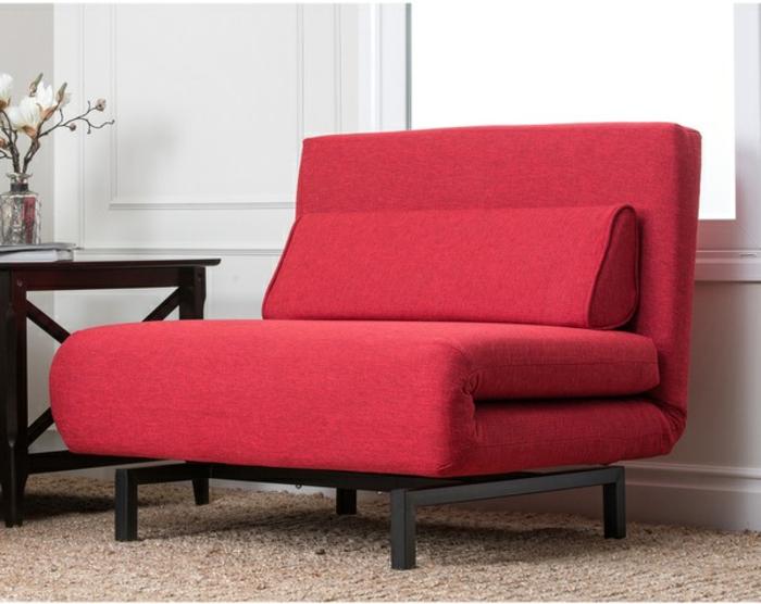 idées-pour-votre-intérieur-avec-le-fauteuil-canapé-convertible-rouge-transformation-en-lit