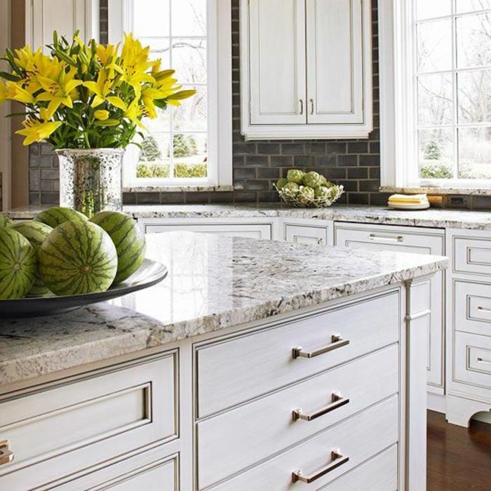 ikea-credence-credence-inox-ikea-meubles-de-cuisine-crédence-de-cuisine-fleurs-dans-la-cuisine