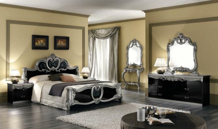 jolie-chambre-parentale-suite-parentale-aménagement-baroque-meubles-dans-la-chambre-à-coucher