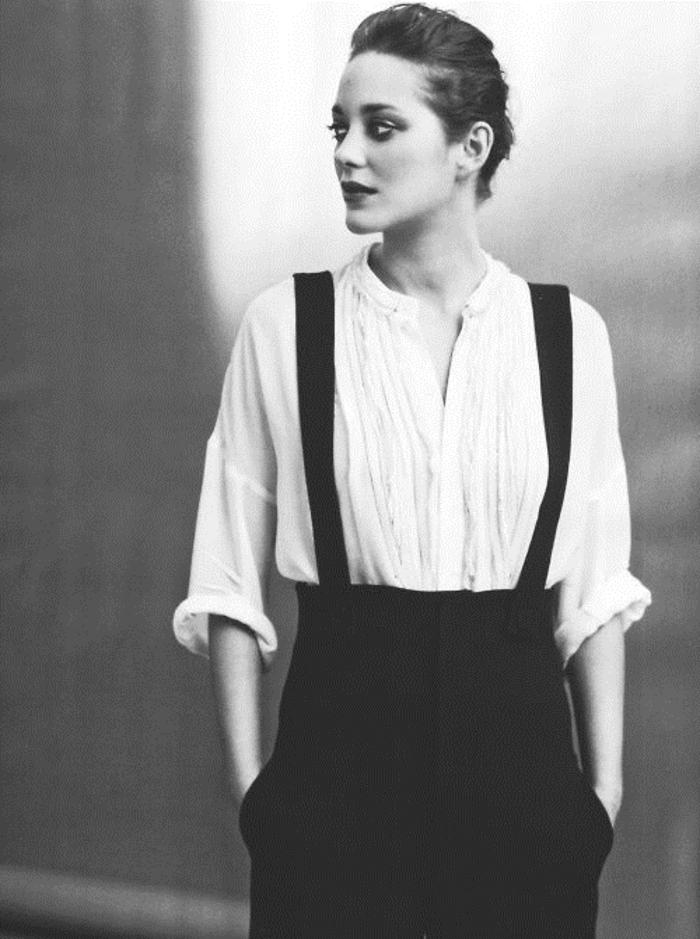 la-tenue-femme-chic-marion-cottilard-habillement-personnalisé-accoutrement-noir-et-blanc
