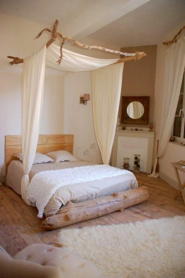 lampe-bois-flotté-maison-du-monde-objet-deco-bois-guirlande-bois-flotté-lit-chambre-à-coucher