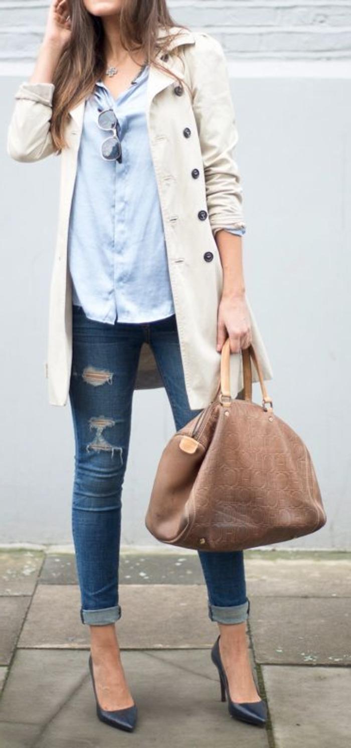 le-style-casuel-chic-cool-adoptez-tenues-chics-femmes-quotidienne-idée-veste-jeans-chemise