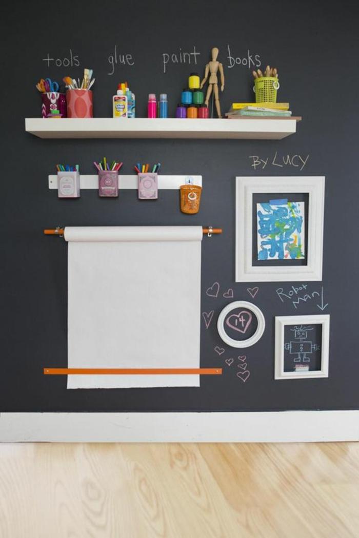le-tableau-noir-cuisine-ardoise-noire-decoration-murale-interieur-chambre-enfant