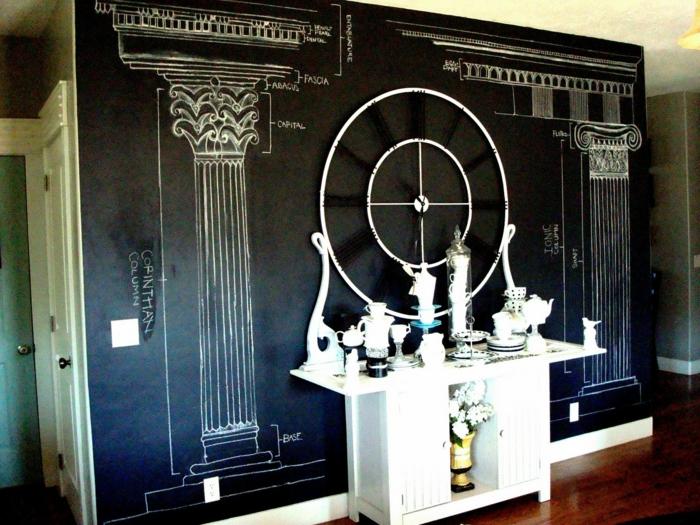 le-tableau-noir-cuisine-ardoise-noire-decoration-murale-interieur-mur-idée
