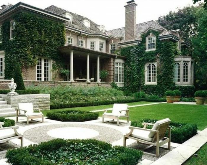 maison-pelouse-verte-plante-grimpante-extérieur-jardin-avec-pelouse-verte-maison-de-luxe