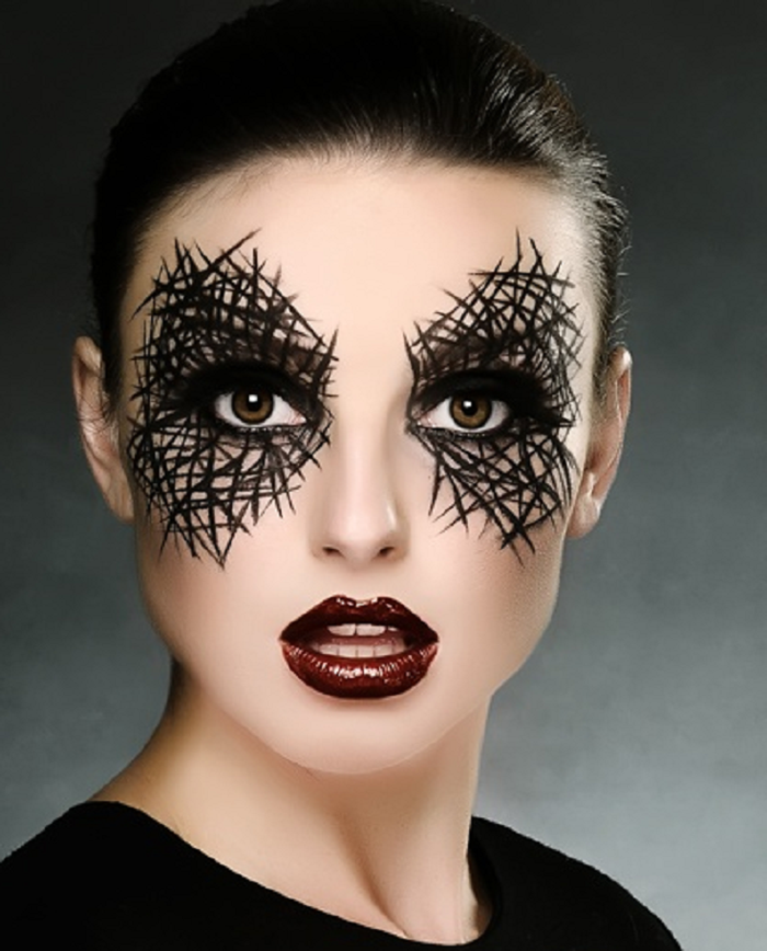 maquillage halloween chic