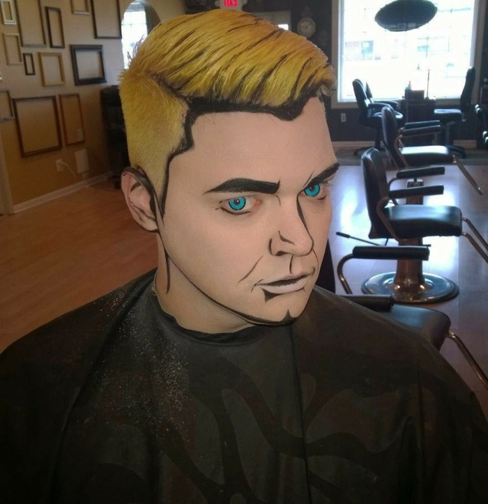 maquillage-halloween-homme-idées-inspiration-2015-pop-art-populaire-cool-resized
