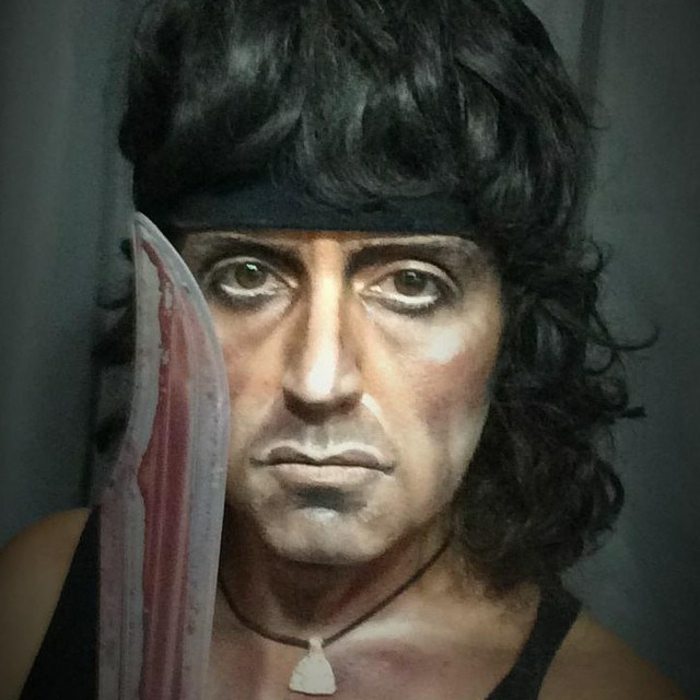 maquillage-halloween-simple-deguisement-halloween-cool-rambo-resized