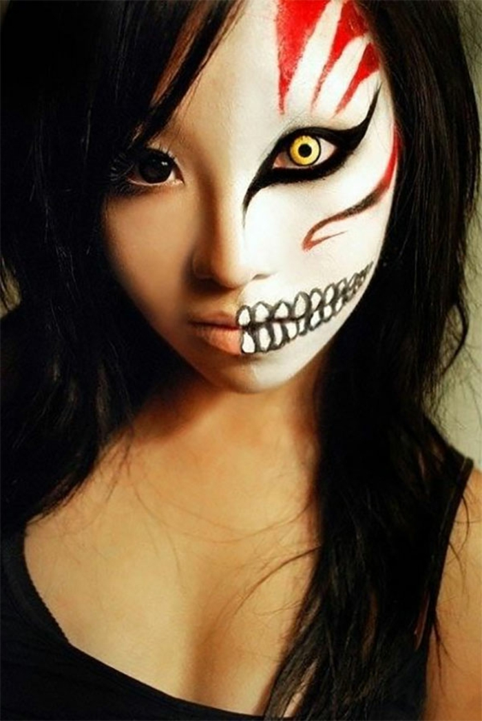 maquillage-pour-halloween-femme-maquillage-monstreux-dents-resized