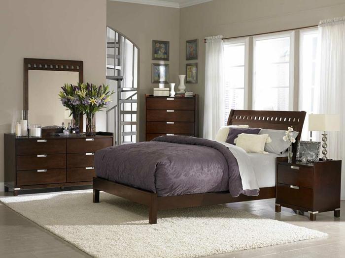 meubles-dans-la-chambre-à-coucher-tapis-blanc-parquette-gris-meubles-dans-la-chambre-à-coucher