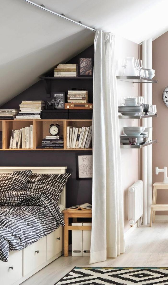 meubles-sous-pente-étagères-sous-pente