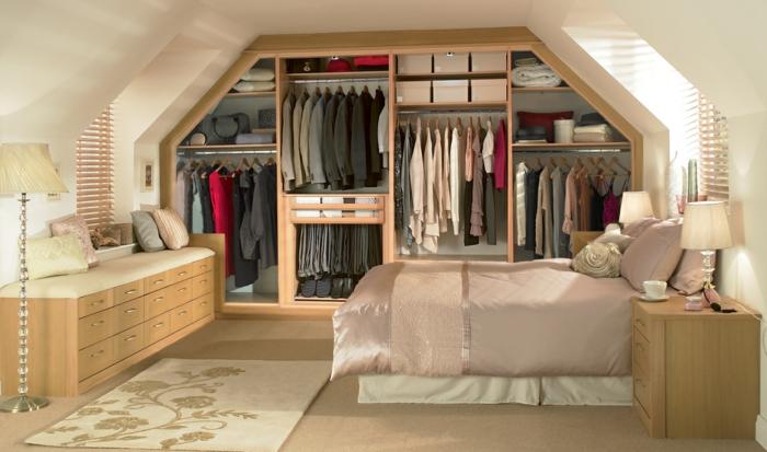 Les meubles sous pente solutions cr atives - Dressing pour sous pente ...