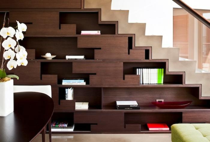 meubles-sous-pente-rangement-en-bois-foncé