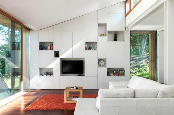 meubles-sous-pente-salle-de-séjour-unique-avec-rangement-moderne