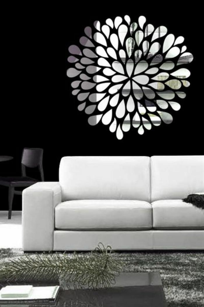 miroir-décoratif-alinea-miroir-desgn-pas-cher-comment-décorer-avec-un-miroir-salon-moderne