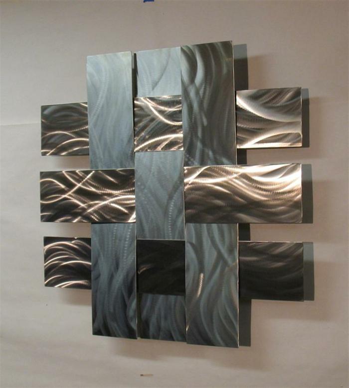La d coration murale en m tal touches d 39 l gance pour l 39 int rieur - Decoration murale moderne ...