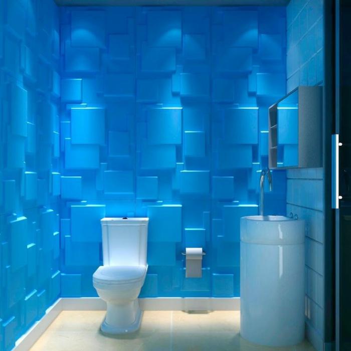 Le panneau mural 3d un luxe facile avoir - Panneau stratifie salle de bain ...