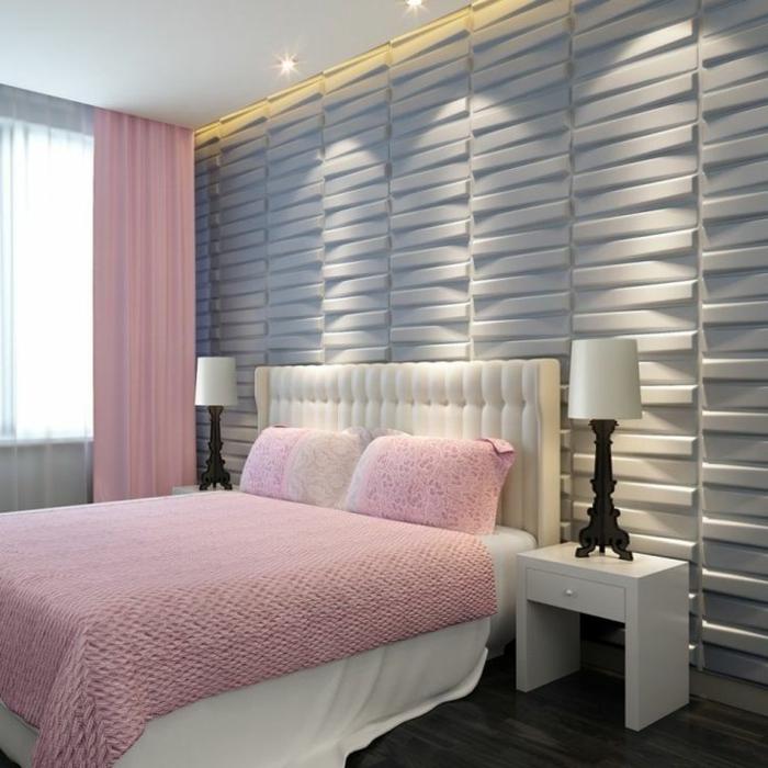 panneau-mural-3d-belle-chambre-à-coucher-déco-murale