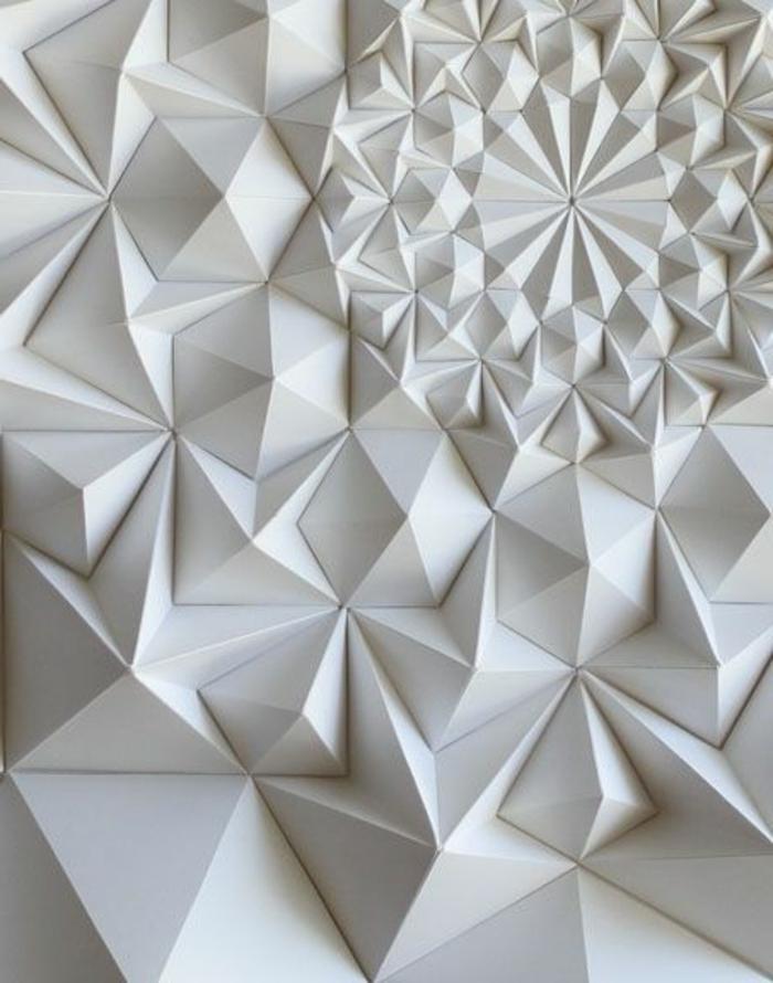 panneau-mural-3d-inspiré-de-l'origami-art