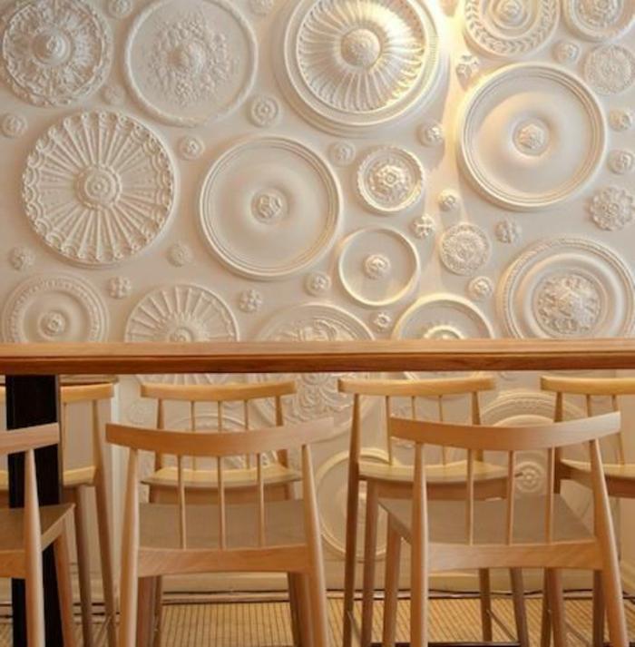 panneau-mural-3d-joli-panneau-mural-en-blanc