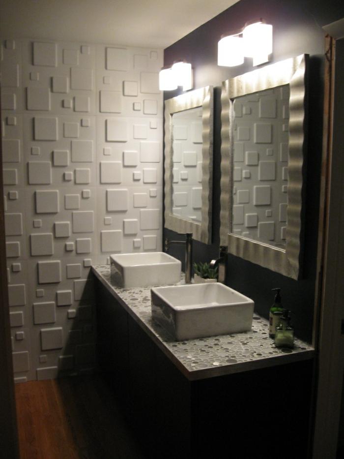 Le panneau mural 3d un luxe facile avoir - Panneau bois pour salle de bain ...