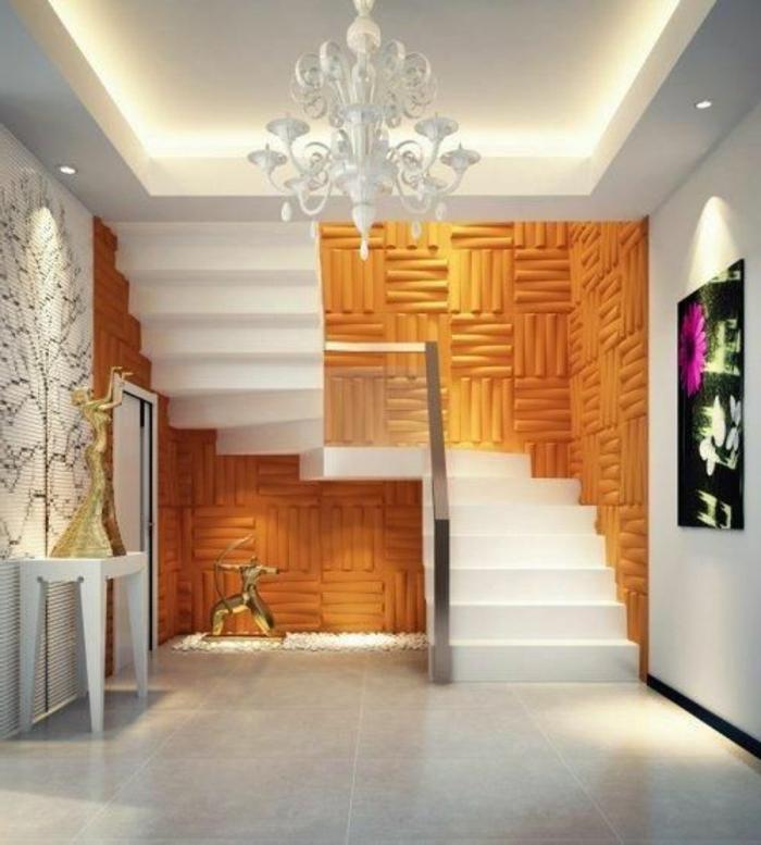 Panneau mural decoratif 3d design de maison - Panneau mural decoratif interieur ...
