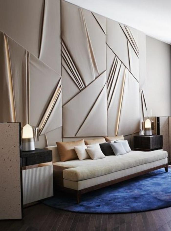 Le panneau mural 3d un luxe facile avoir - Panneaux muraux decoratifs design ...